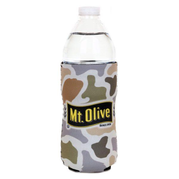 Tan Camo Mt. Olive Pickles Tall Koozie