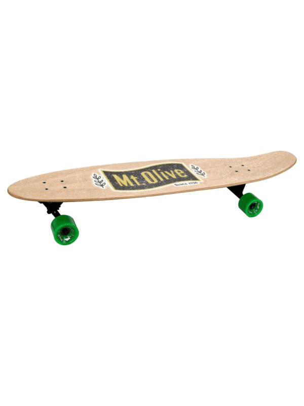 Mt Olive Skateboard viewed from the side